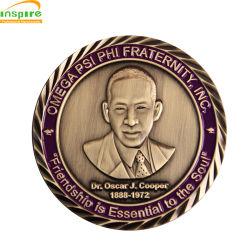 هدية ترويجية بالجملة تذكار المعادن الذهب التحدي العسكري كوين