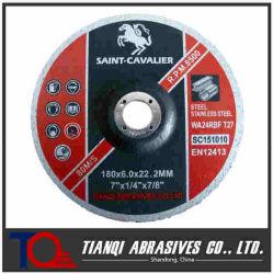 Disco de acero pulido de abrasivos de Muela para aluminio metálico de acero inox