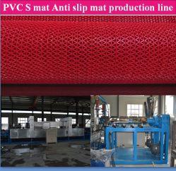 PVC S 매트 메이킹 기계/플라스틱 미끄럼 방지 매트 기계/S 목욕 매트 생산 라인