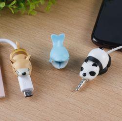 Die netten Fisch-Einhorn-Plastiktiere, die Kabel-Sparer, Telefon-Zusatzgerät aufladen, schützen USB-Aufladeeinheit