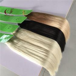 Comercio al por mayor 100% virgen derechos largo cabello trama