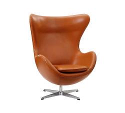 De Italiaanse Stoel Arne Jacobsen van het Ei van het Leer (A073B)