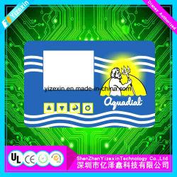 Большой размер Пэт мембранной клавиатуры комбайна прозрачные окна панели мембранного переключателя
