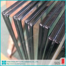 5.38mm-12.76mmの端の磨かれた和らげられたか、または強くされた薄板になる明確なか着色された安全ガラス建物ガラス低いEの薄板にされた構築のガラス中間膜ガラス