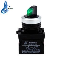 Xdl22-CK3365 IP67 2 indicador de retorno da mola da posição de plástico do interruptor do seletor