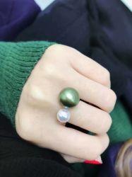 Commerce de gros Pearl avec 925 Silver Ring Bague de réglage