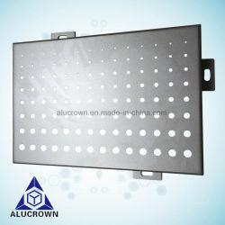 Panel de aluminio perforado metálico perforado Venner perforada