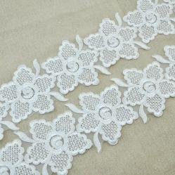 方法刺繍の花のコードのレースのトリムの花嫁のアクセサリ
