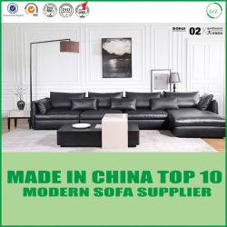 Base di sofà di cuoio di legno della mobilia dell'hotel della tappezzeria