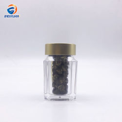 La cápsula de acrílico de 40ml medicina píldoras Azafrán Cordyceps sinensis Packing botella con tapa