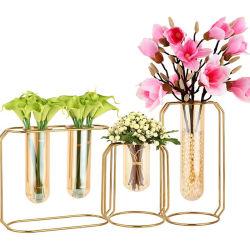 Metallvasen-Rahmen, geometrischer Pflanzenpotentiometer, 3pack, Mittelstück-Pflanzenvase