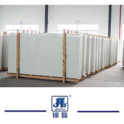 現代台所カウンタートップまたはタイルの壁または床またはカウンタートップのための白い人工的な大理石または結晶させたガラスかNanoガラス石または人工的な結晶させた白い石