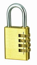 [38مّ] ثقيل - واجب رسم قفل نحاس أصفر يشكّل [كمبينأيشن لوك] [ويث4] رمز تعقّب هويس