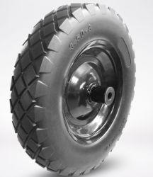 Mousse de PU de haute qualité solide/solide de pneus en fauteuil roulant 350-8 400-8 pleine taille de pneu