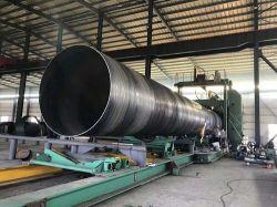 Commerce de gros tuyau en acier soudé SSAW Spirale pour l'eau La construction du pipeline de gaz d'huile