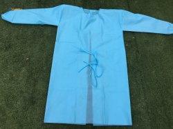 FDA certifiées Ce niveau de l'AAMI 2 brassard tricoté en costume de protection jetables 45g PP/PE robe d'isolement