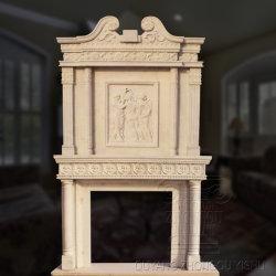 Une cheminée en marbre manteau de cheminée en marbre artificiel de Mantel cheminée en marbre bon marché
