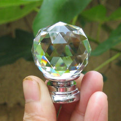 Form 30mm Crystal Glass Cabinet Hardware Knob und Handle für Furniture