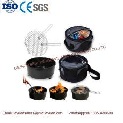 Mini portátil picnic al aire libre el carbón de leña Barbacoa con bolso del refrigerador