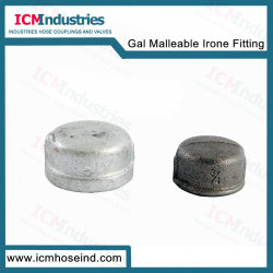 Galvanisierte runde Schutzkappe des formbares Eisen-Rohrfitting-301