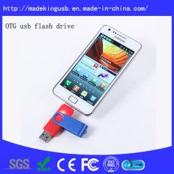 Горячая продажа Пластиковые поворотные подарок для продвижения OTG флэш-накопитель USB