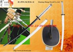 Espada anime japonês Wado original de aço Ichimonji Branco Unsharpened Katana