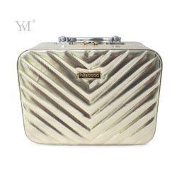 Brosse cosmétique maquillage en cuir, porter un sac de cas Cas avec miroir