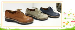 La mode des chaussures en cuir Lady occasionnel
