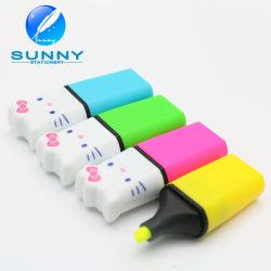 Multicolor con forma de Gato Mini Lápiz marcador resaltador