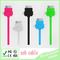Micro 1 USB Cableに付き工場Selling Multi Cell Phone Charing 3。 Andriod /iPhone 4S/5s /Tablet