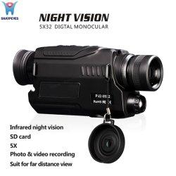 Установленным монокуляром легко вести очки Pj2 цифровой инфракрасной подсветкой цифровая камера ночного видения