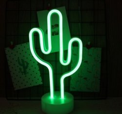 LED 24 V Cactus au néon de lumière pour un usage domestique de Noël