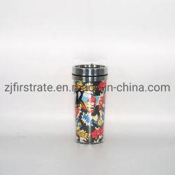 El doble de plástico exterior de acero interior taza de café de la Copa de coche Travel Cuplogo o papel de la publicidad puede ser personalizado