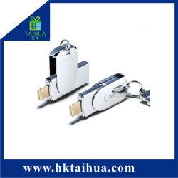 Kundenspezifischer Firmenzeichen-Entwurfs-metallischer Speicher 8GB 16GB 32GB USB-Platte-Blitz für Mobiltelefon oder PC