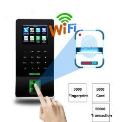 WiFi el control de acceso de huella dactilar y la hora de la asistencia