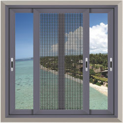 Prix bon marché Guangzhou Foshan fabrication maison utilisée cadre métallique en aluminium double vitrage en verre de l'ouragan d'impact des portes coulissantes et de la conception de Windows