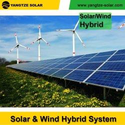 Energia solar e híbridos de vento 5KW a Solar PV de Alimentação do Painel de fontes renováveis de energia