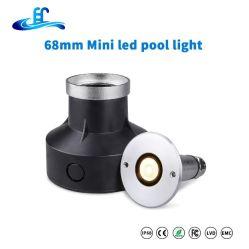 DC12V RGB 316ss Mini Inbouwbaar IP68 Onderwater waterbestendig LED zwemmen Poollamp met CE RoHS