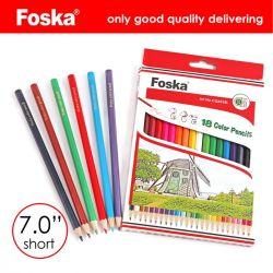 7.0'' de madera Color 18 colores Hexagonal lápiz/juego de lápiz de color