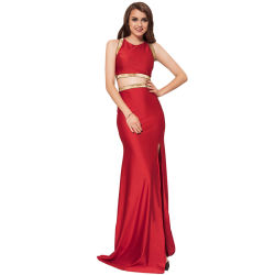Commerce de gros Hot vendre trois femmes distinctes de couleur Golden Edge robe de soirée
