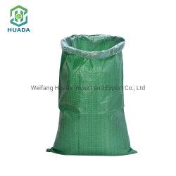 低の卸売は緑PPによって編まれた米包装袋をリサイクルした