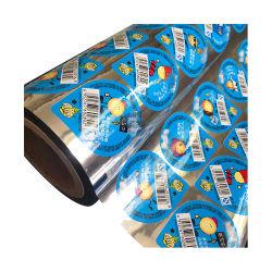 مخصص طباعة Easy Peel خارج لفّة تغليف Jelly Cup Lidding فيلم المشروبات ملصق تلقائي للأسطوانة