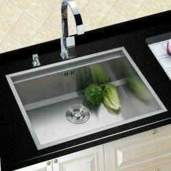 Fait à la main en acier inoxydable 304 seul bol/lavage Lavage évier de cuisine