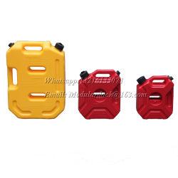 Cierre automático de 10 litros Tanque de combustible plástico de color rojo.