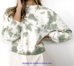 Nube de algodón Tie-Dyed/Spandex tejido de la mujer ropa deportiva