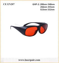 200-540nm óculos de segurança de laser de alta qualidade 532nm óculos laser verde