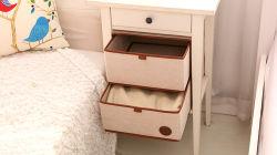 Tissu Mult-Function placard sous-vêtements soutien-gorge pliable de l'organiseur du diviseur de tiroir de rangement