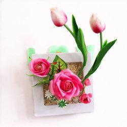 Мода на стене висел искусственные цветы бонсай с режимом Picture Frame