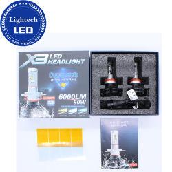 Super Bright X3 50W 6000lm 자동차 오토바이 LED 헤드라이트 전구 H11