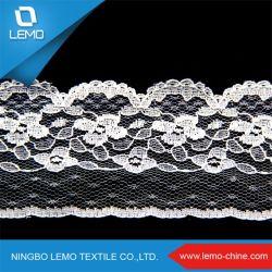2014 africanos de alta calidad de nylon spandex encajes Tricot con patrón de diseño de estilo de moda